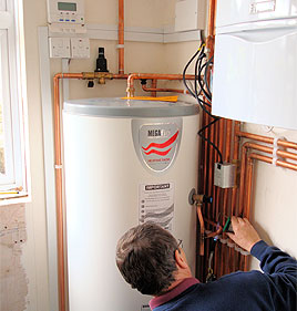 boiler servicing plumber Darlington photo